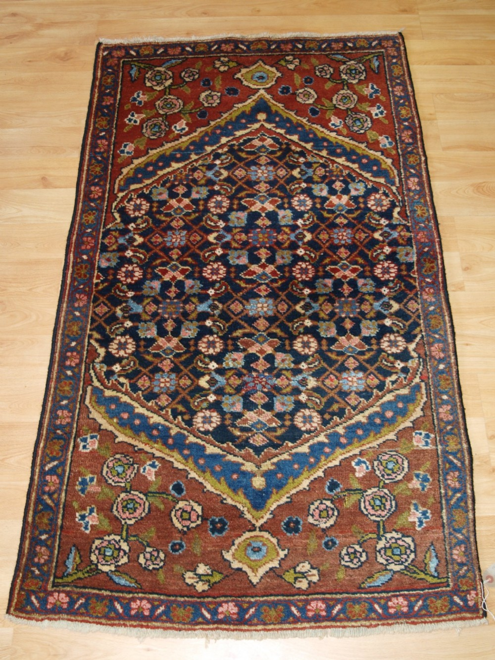 old north west persian hamadan village rug of small size circa 1920