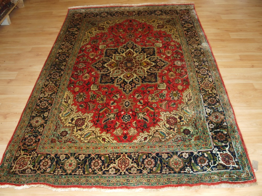 old persian qum silk rug of good size excellent colour and design circa 1950