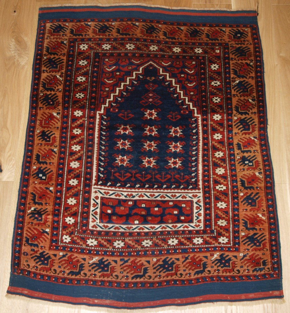 antique turkish prayer rug bergama region possibly yagcebedir late 19th century