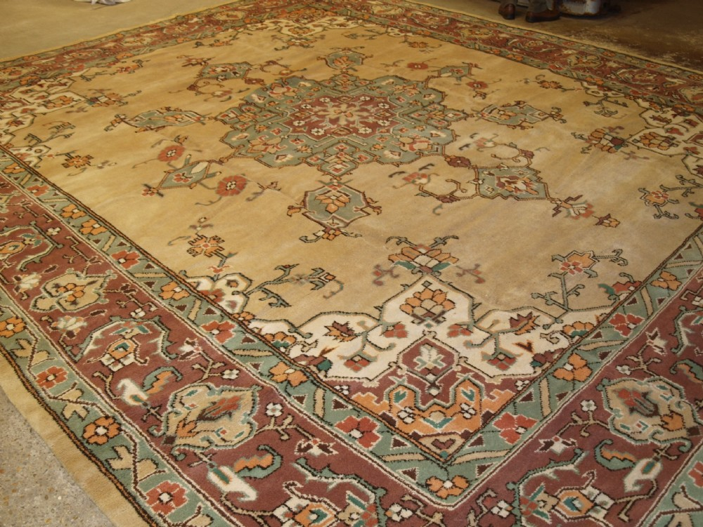 old turkish oushak design carpet large size and soft colours circa 1920