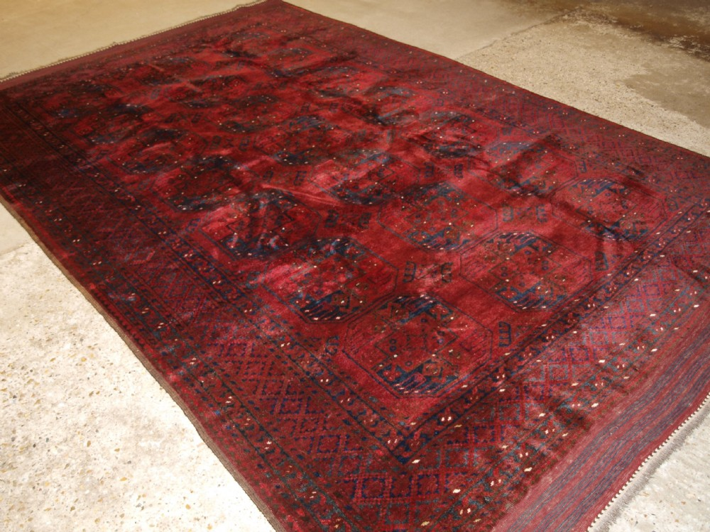 old red afghan village carpet outstanding condition deep red colour circa 1920