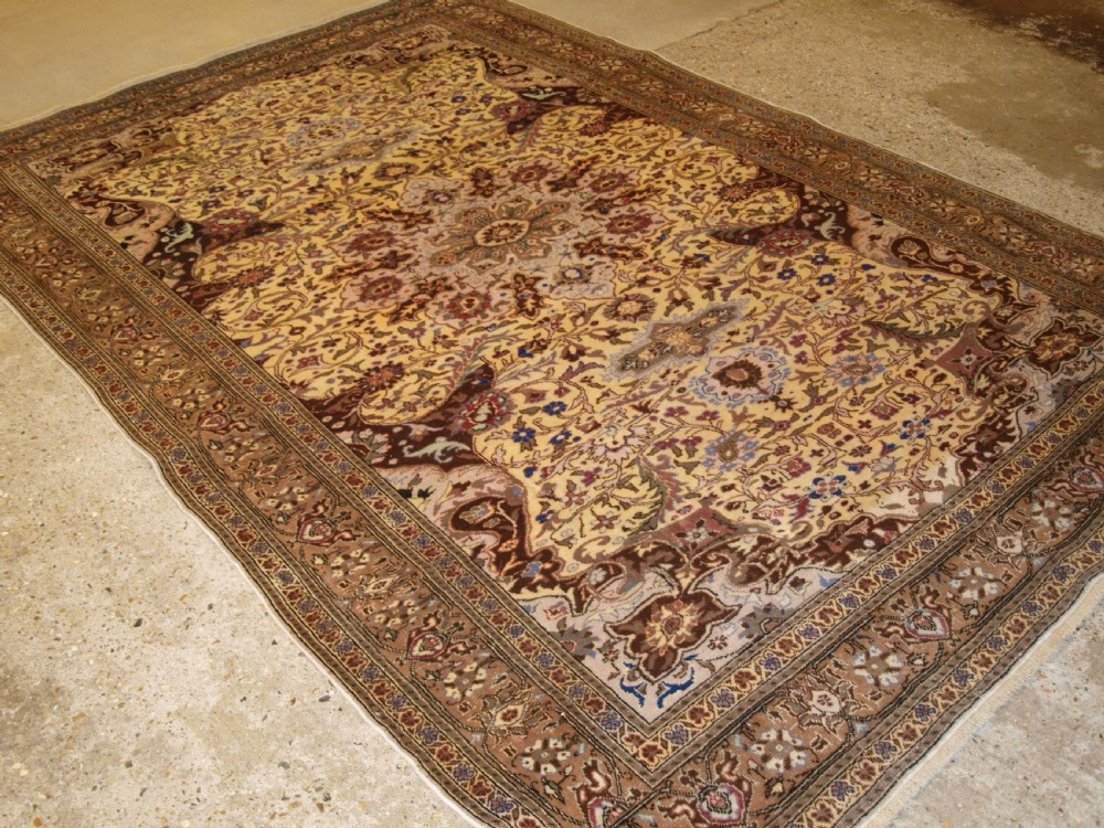 old turkish kayseri carpet soft colours and good condition circa 1920
