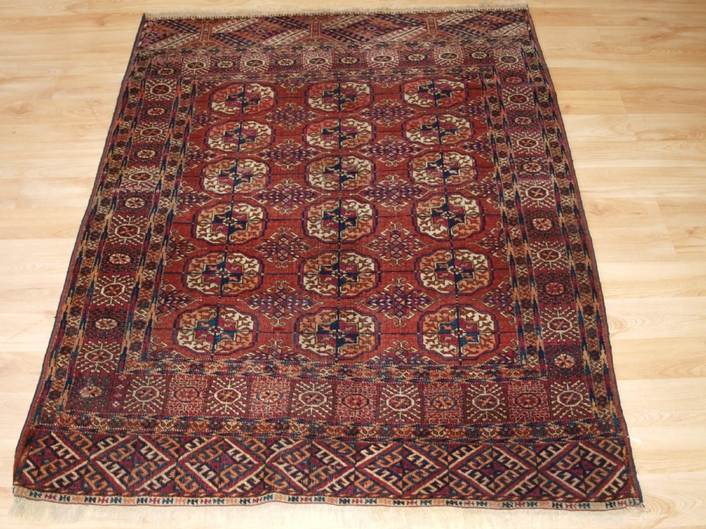 antique tekke turkmen rug of small size good colour late 19th century
