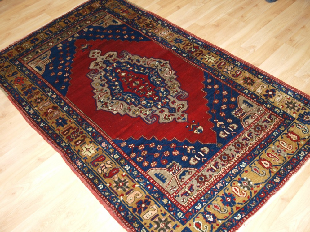 antique turkish taspinar village rug outstanding example in superb condition circa 1900