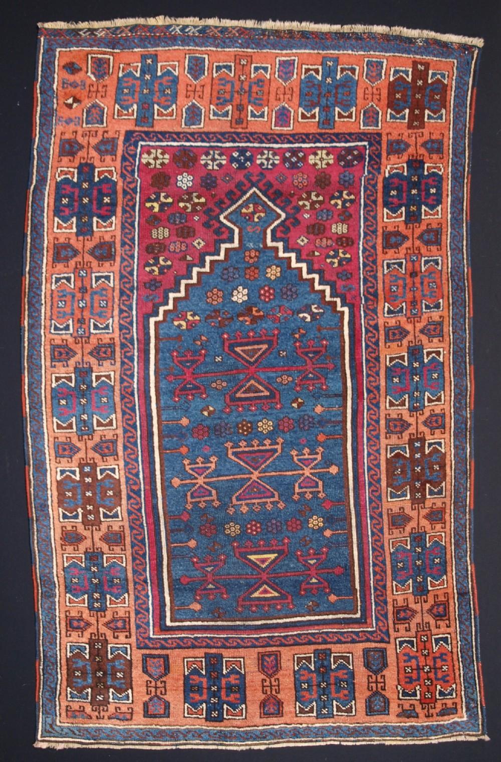 antique east anatolian yuruk prayer rug superb colour 2nd half 19th century