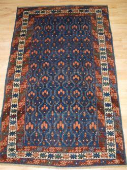 Antique Caucasian Marasali Prayer Rug Inscribed And Dated