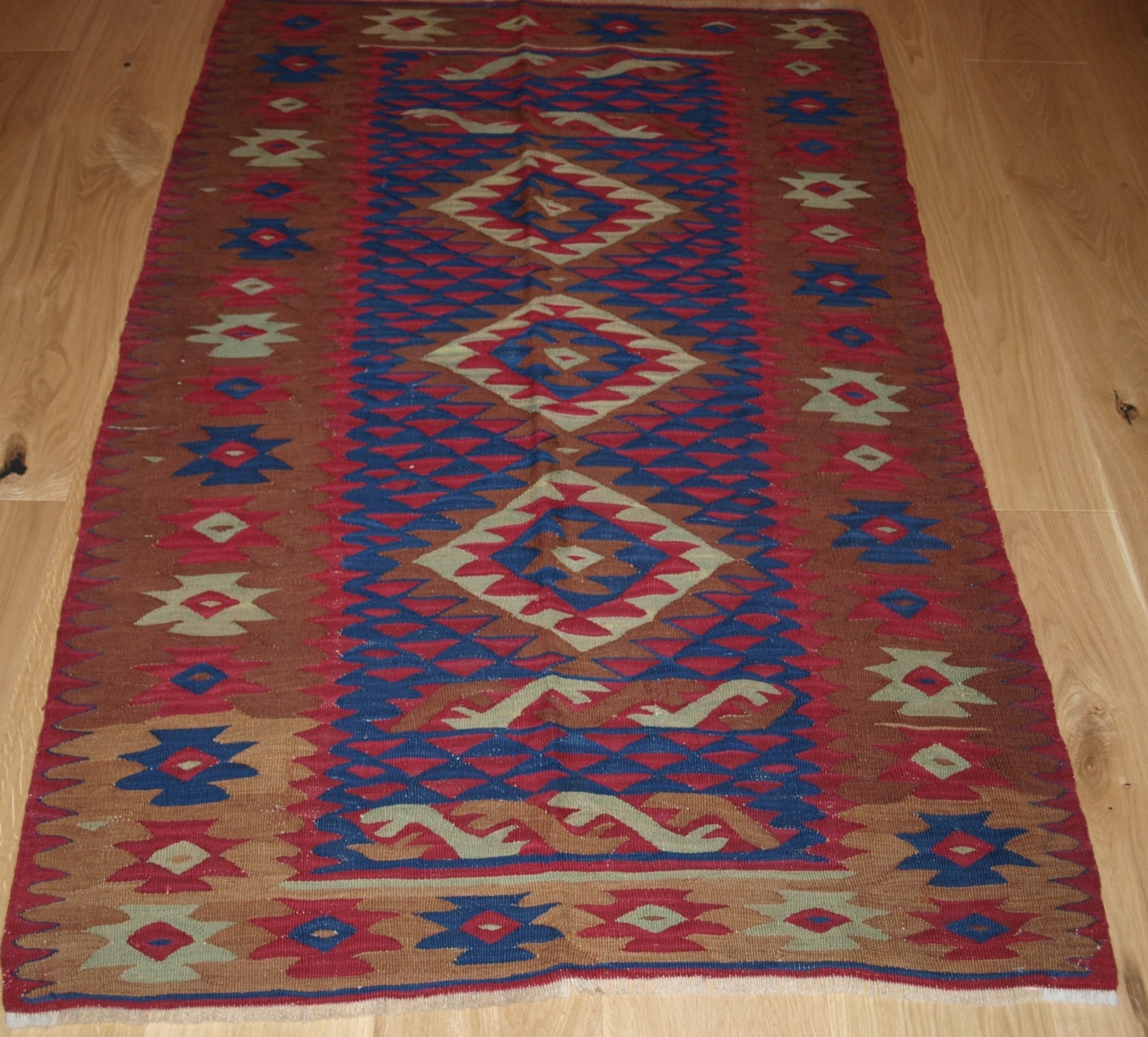 old sharkoy kilim small size with good colour and design circa 1920