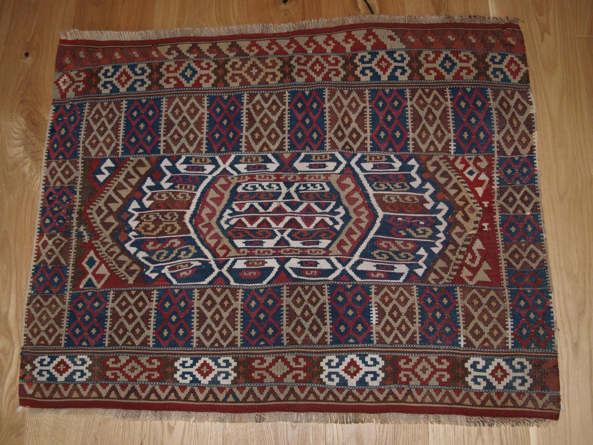 antique turkish malatya kilim bag or chuval face excellent condition circa 1900