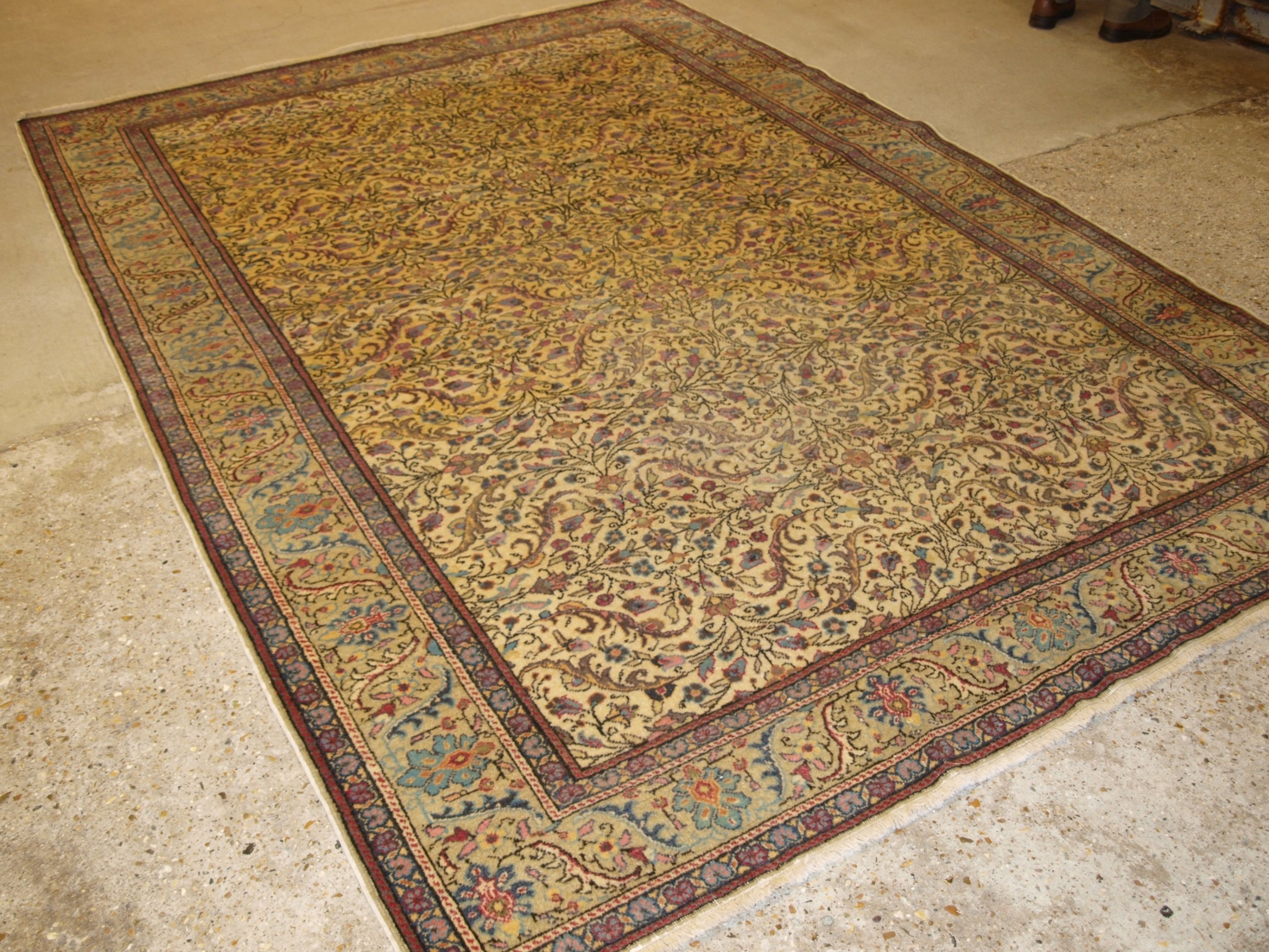 old turkish kayseri carpet all over floral design soft colours good condition circa 1920