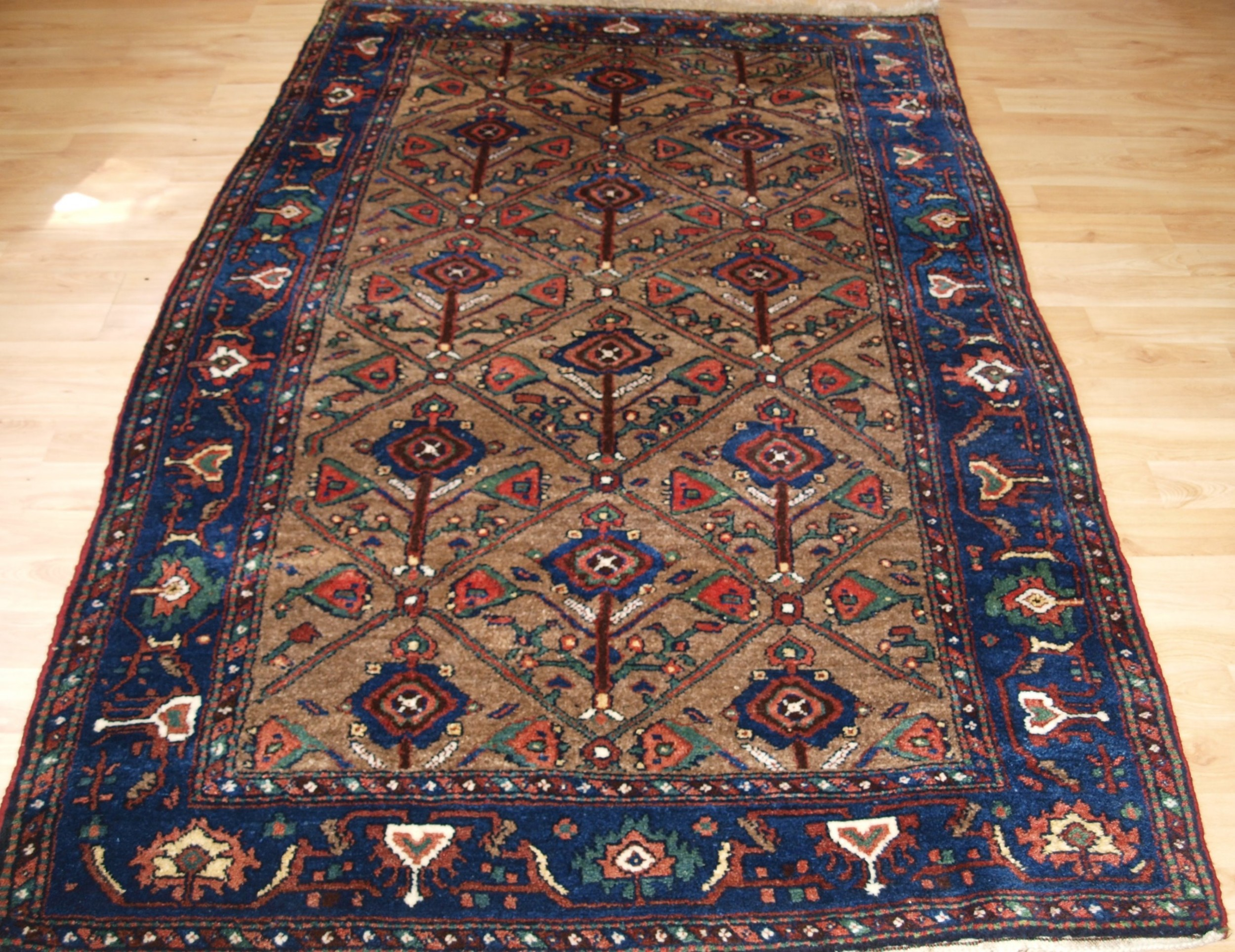 antique kurdish hamadan region village rug circa 190020