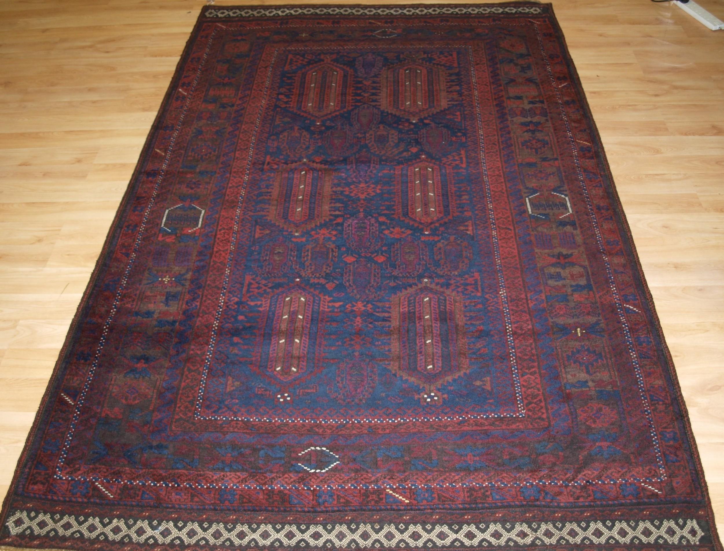 antique western afghan timuri baluch rug deep rich colours circa 1880