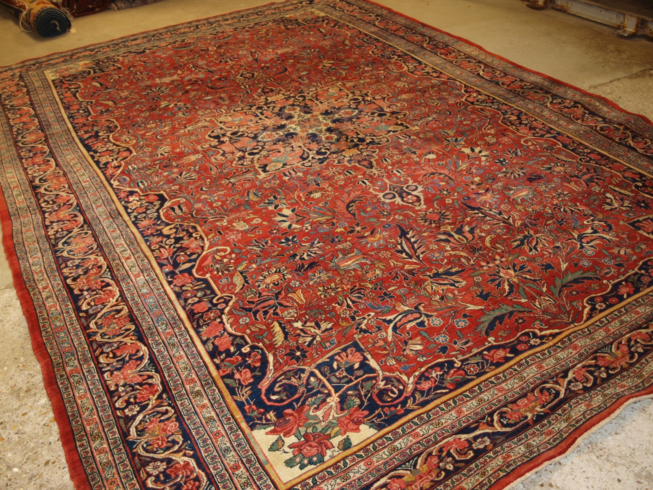 antique bijar carpet of outstanding design and colour country house carpet circa 1880