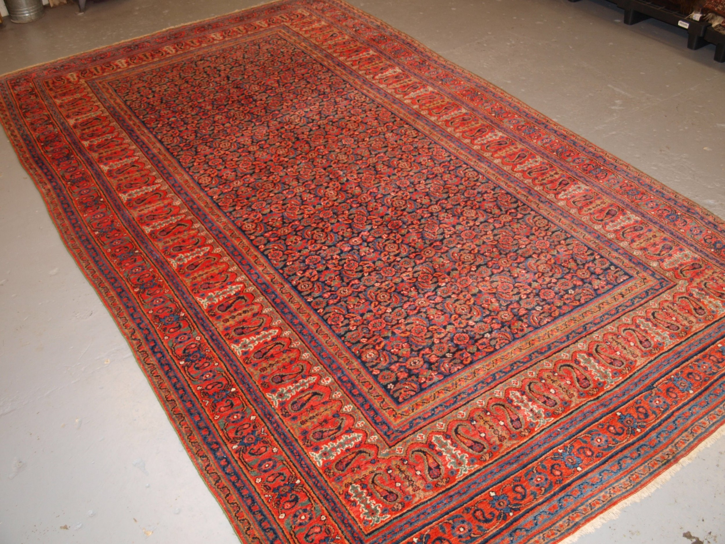 antique persian doroksh carpet superb soft wool great colours circa 1880
