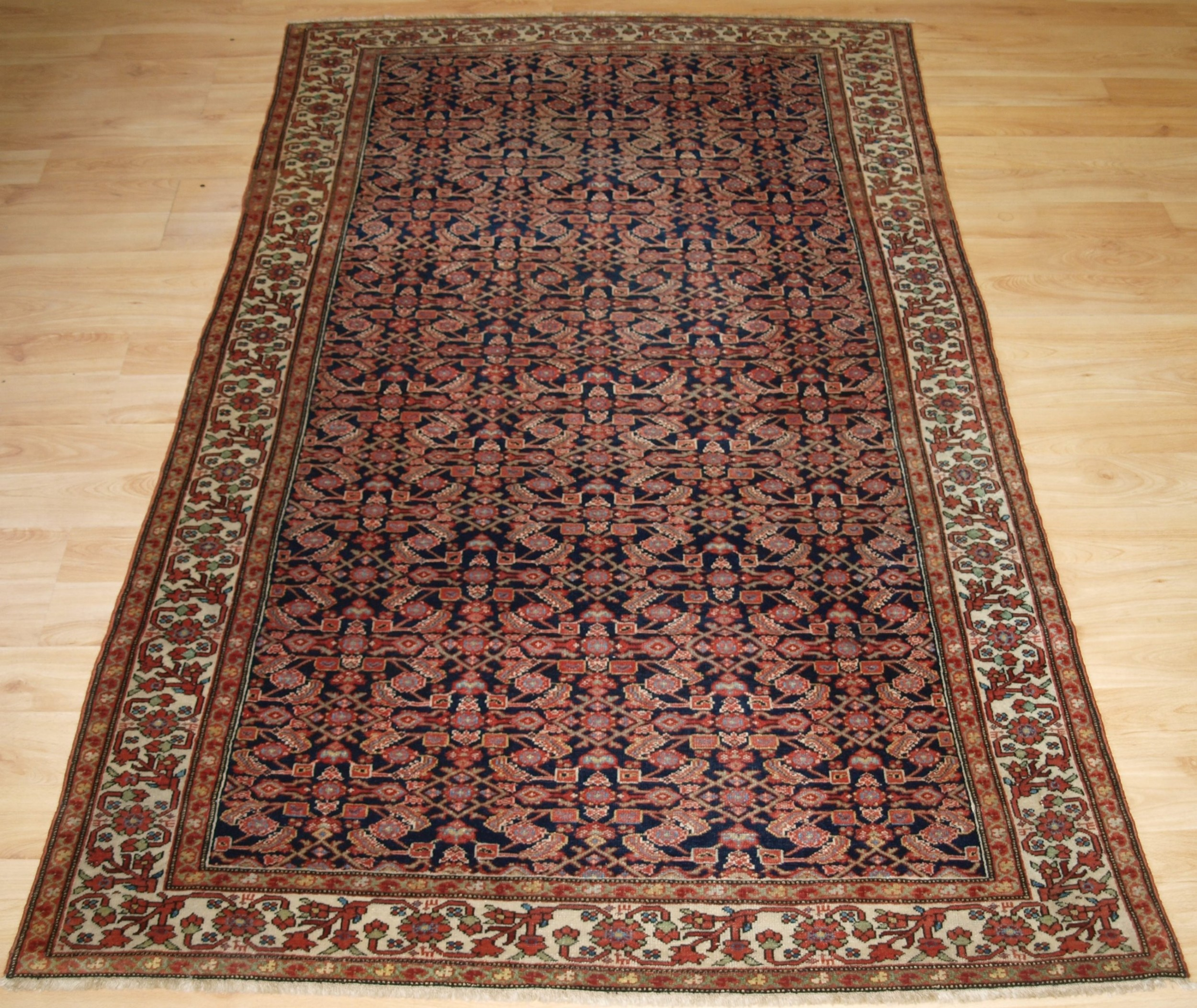 antique malayer village rug fine weave circa 1900