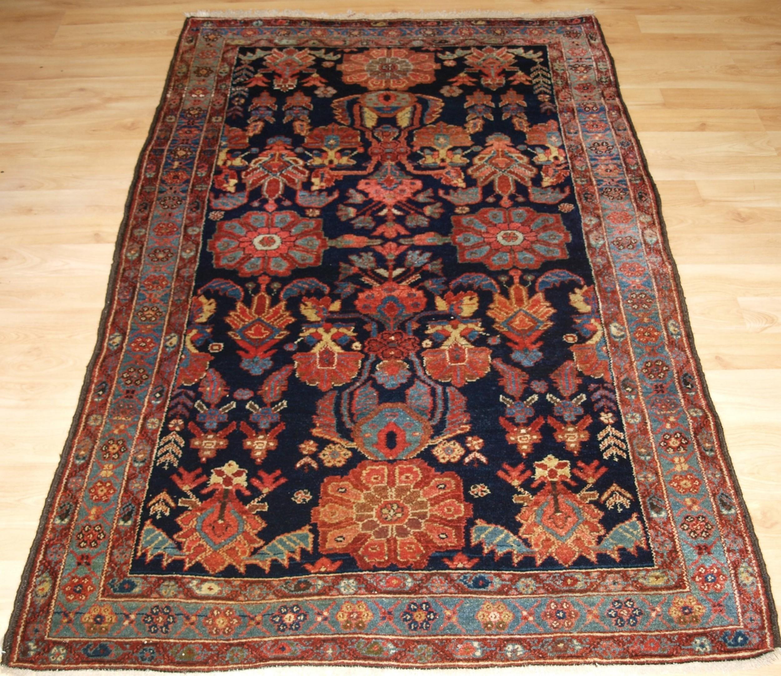 antique kurdish village rug striking design circa 1900