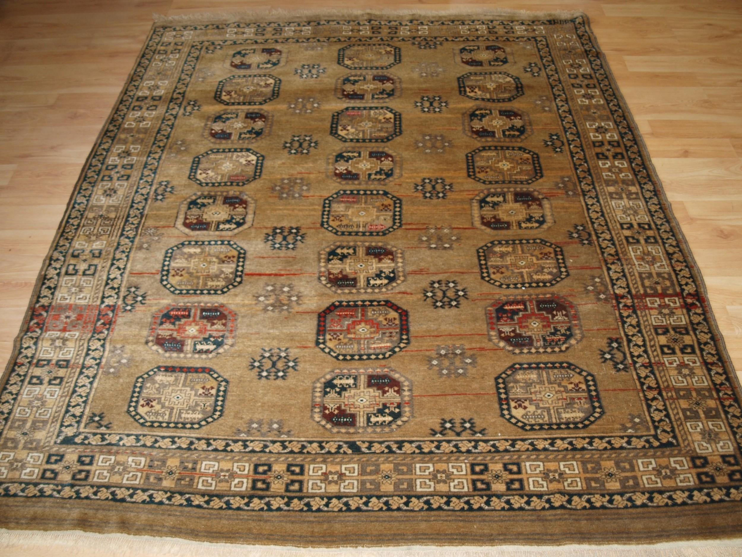 old faded afghan rug with ersari turkmen design circa 192030