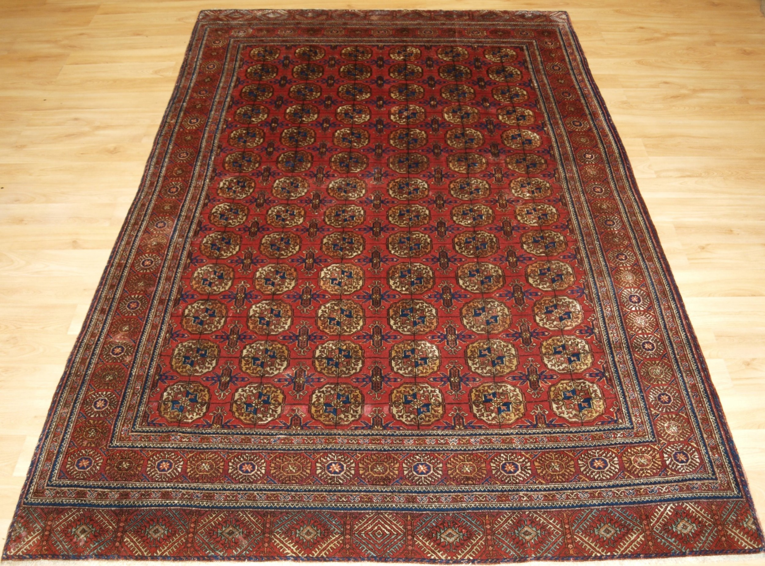 antique tekke turkmen rug very fine with silk highlights circa 1920
