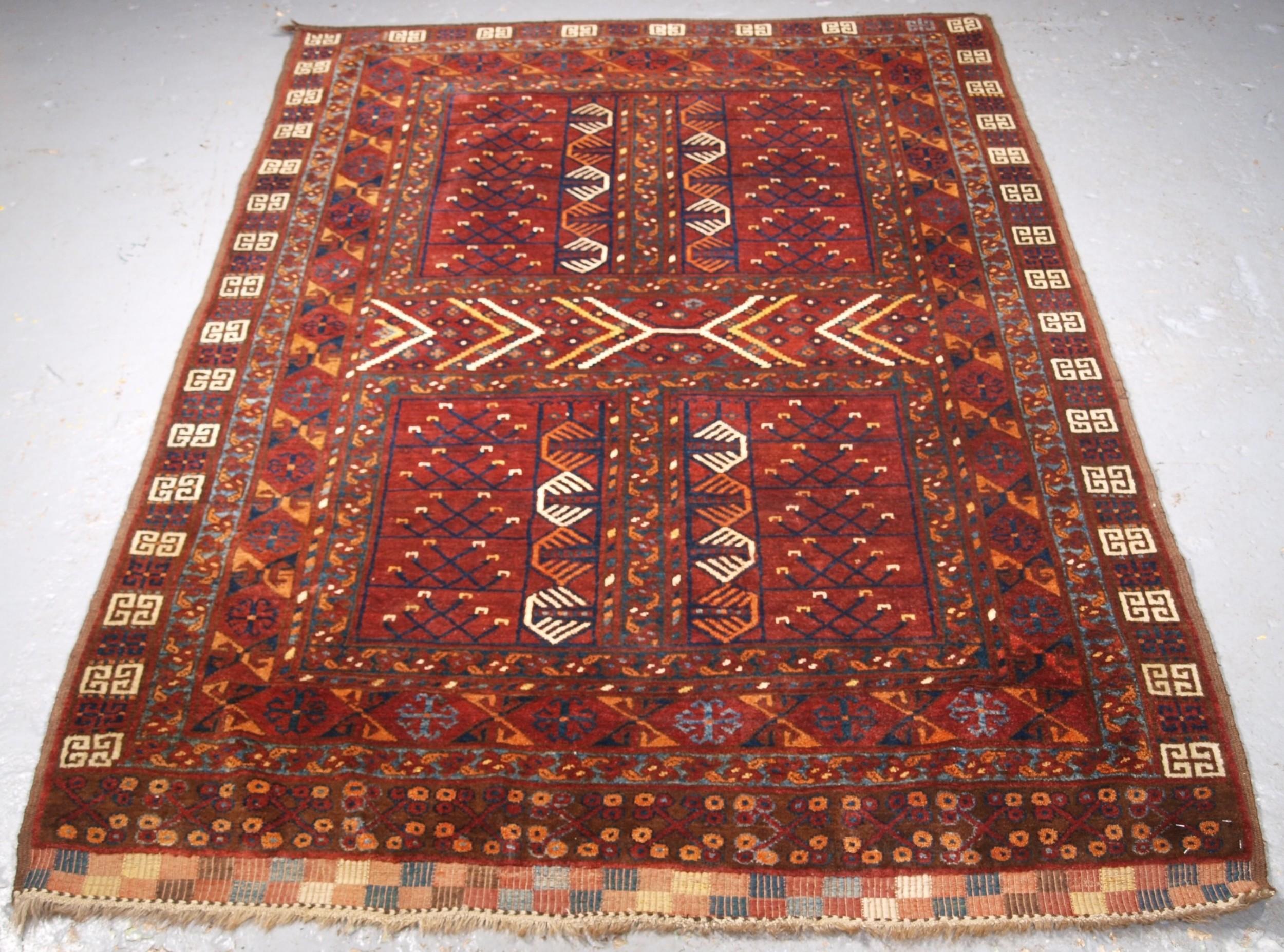 antique ersari turkmen ensi outstanding condition circa 1890