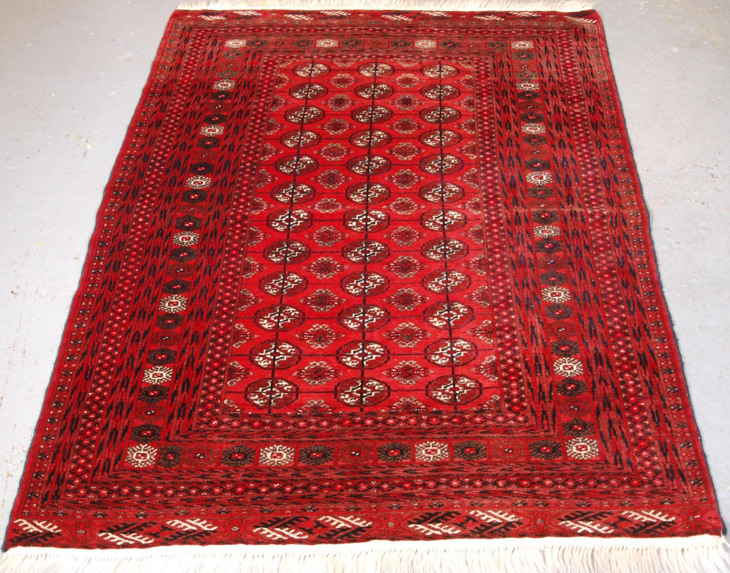 old afghan turkmen rug traditional design fine weave circa 1920