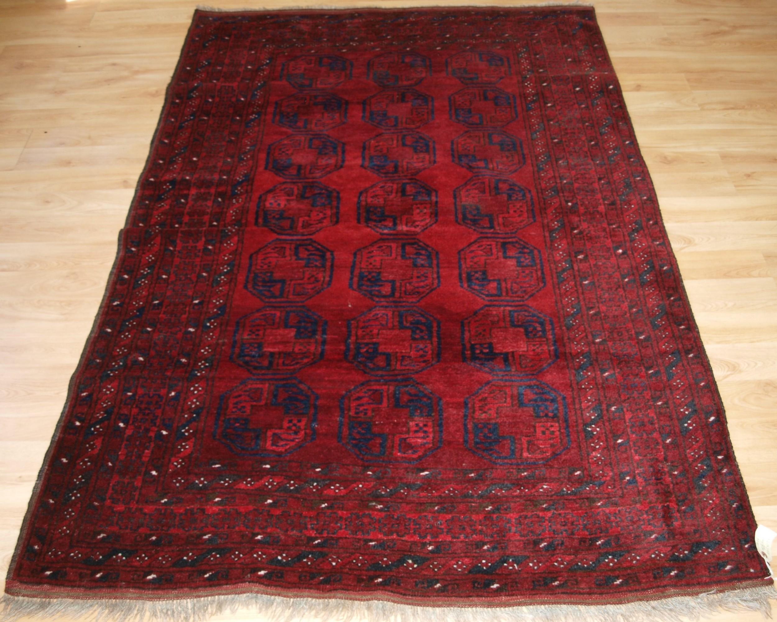 old afghan village rug of traditional design good colour circa 1920