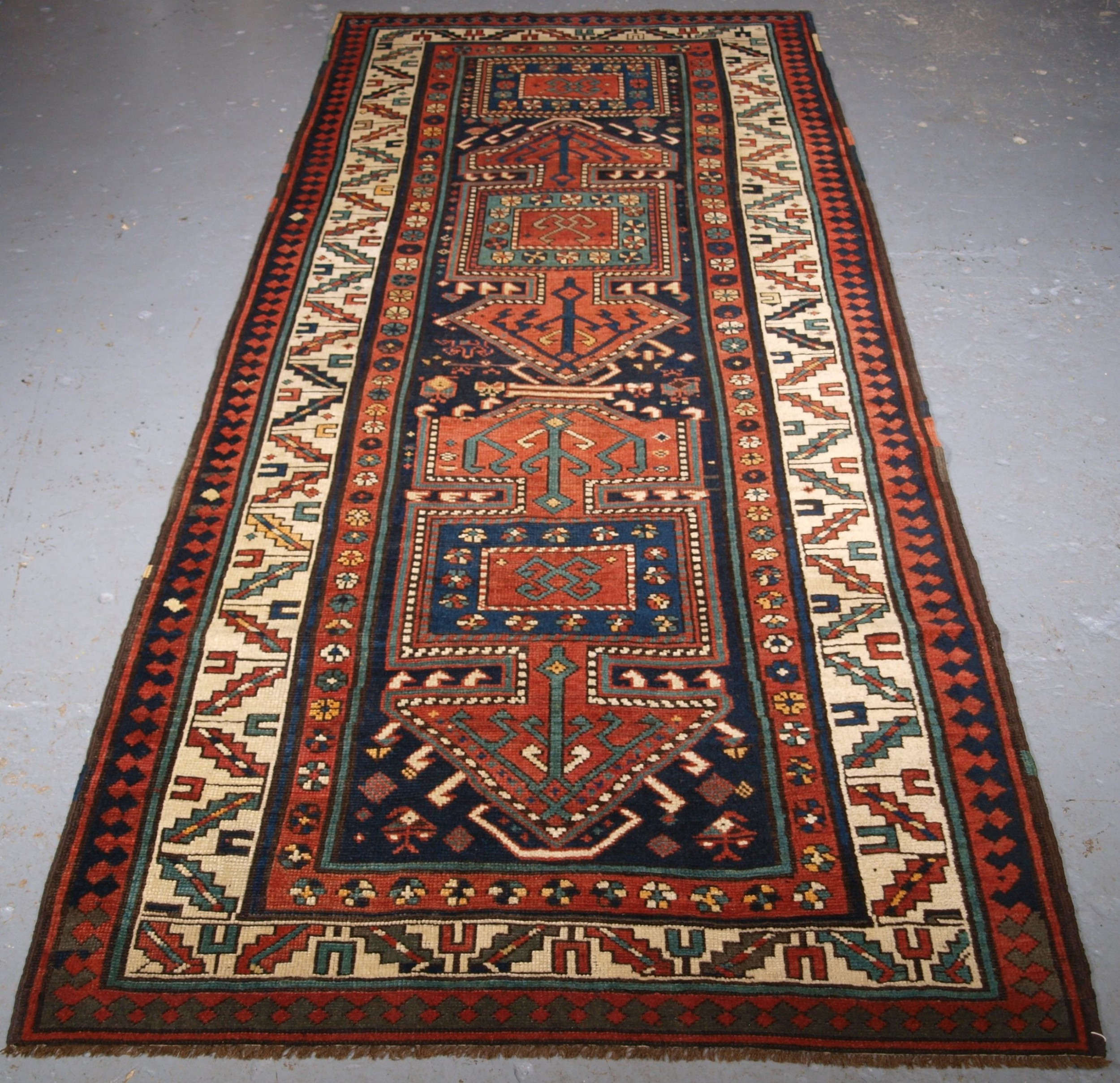 antique kelardasht runner or long rug scarce traditional design circa 1890