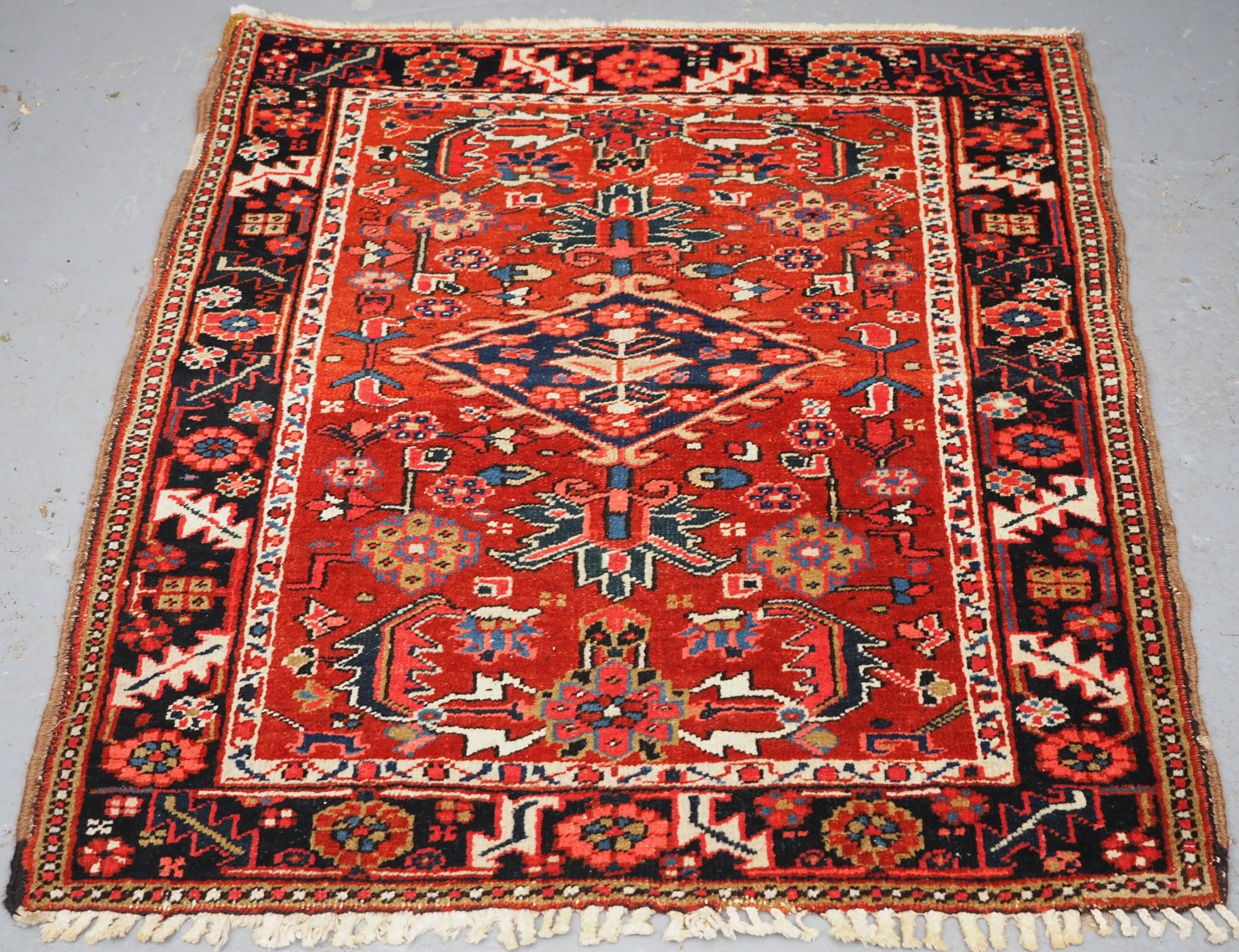 antique heriz rug of small size excellent condition circa 190020
