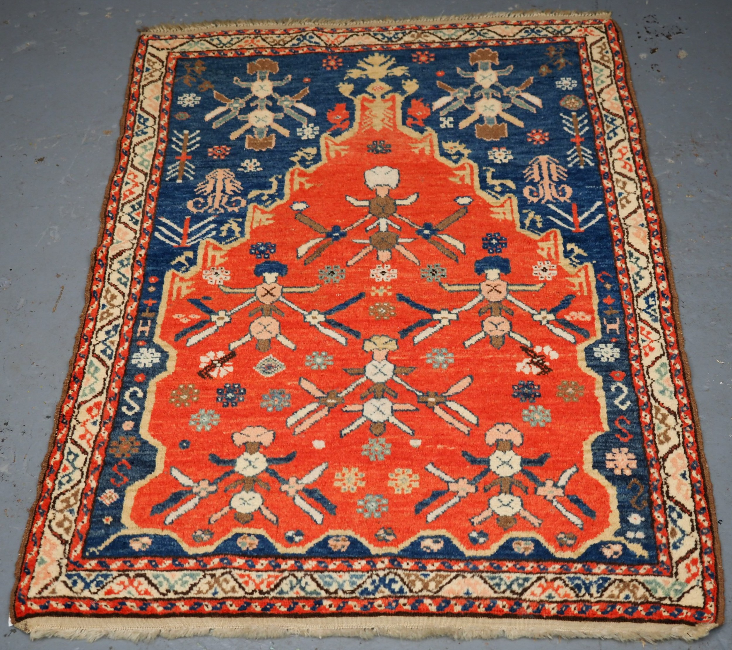 old turkish village prayer rug traditional design circa 192030