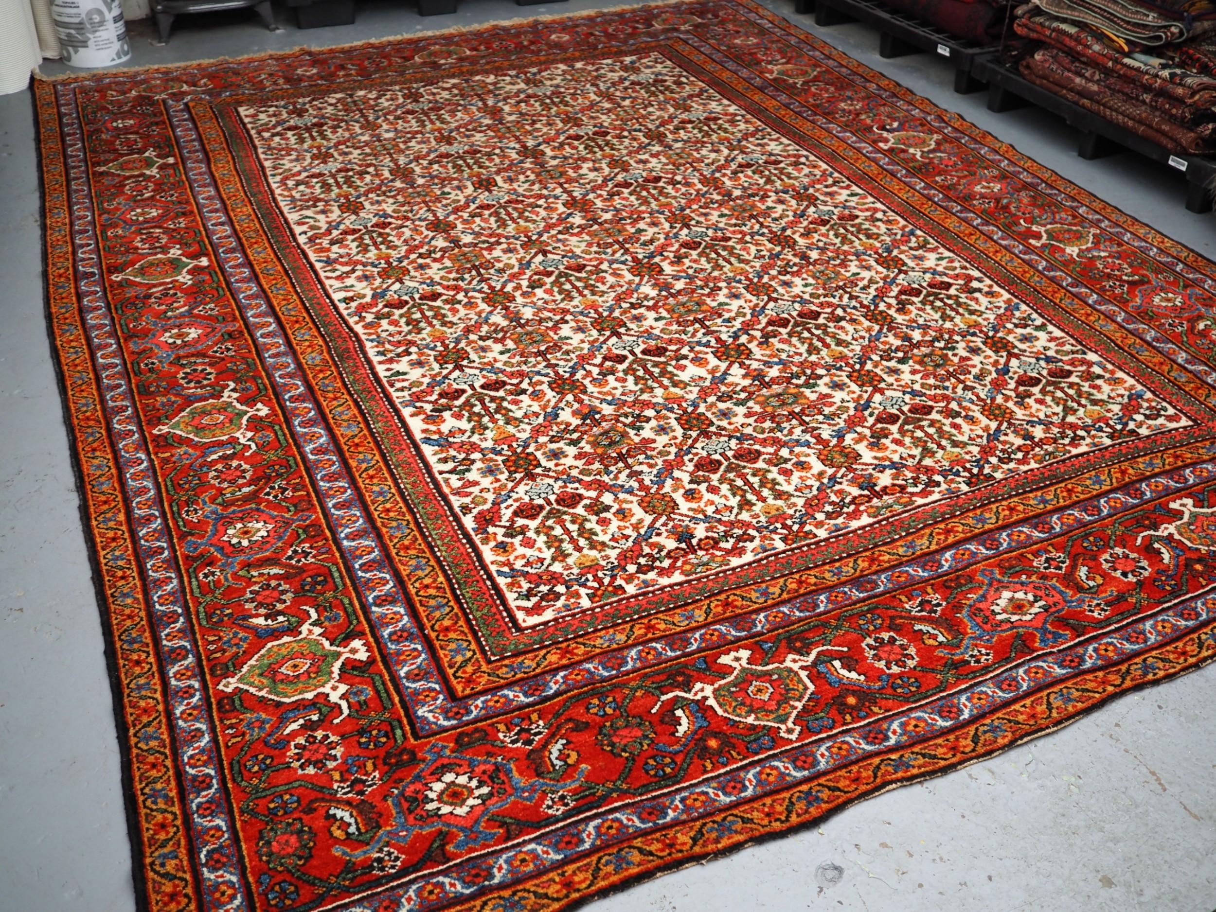 antique feraghan region village carpet perfect condition circa 190020