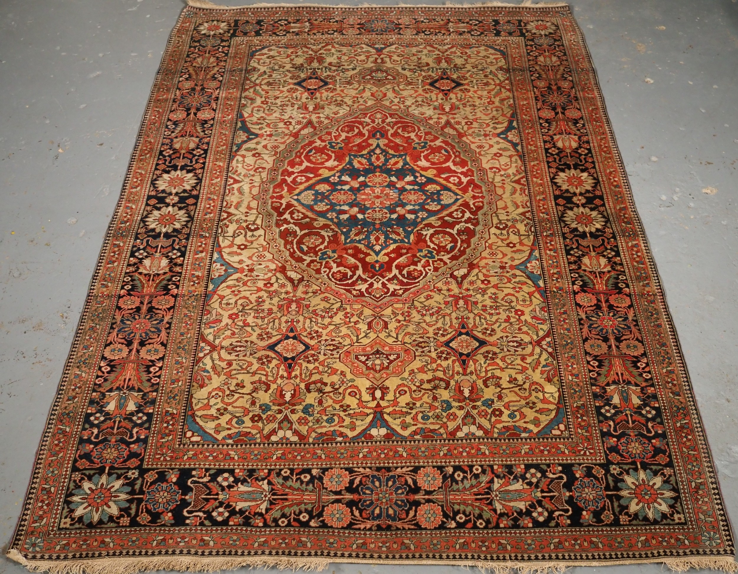 antique mohtasham kashan rug outstanding colour and condition circa 1890