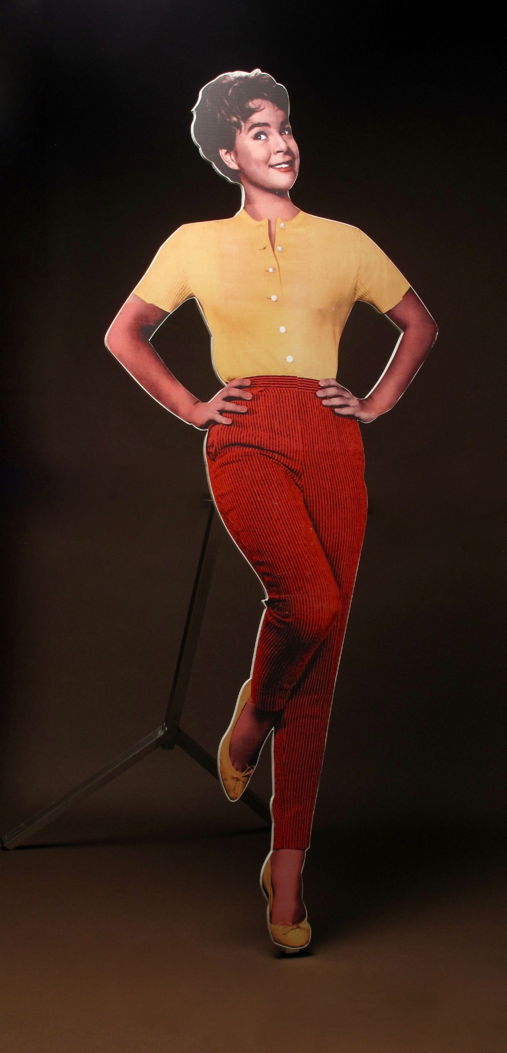 Conny Froboess Bilder two interesting life-size advertisement poster boards of the