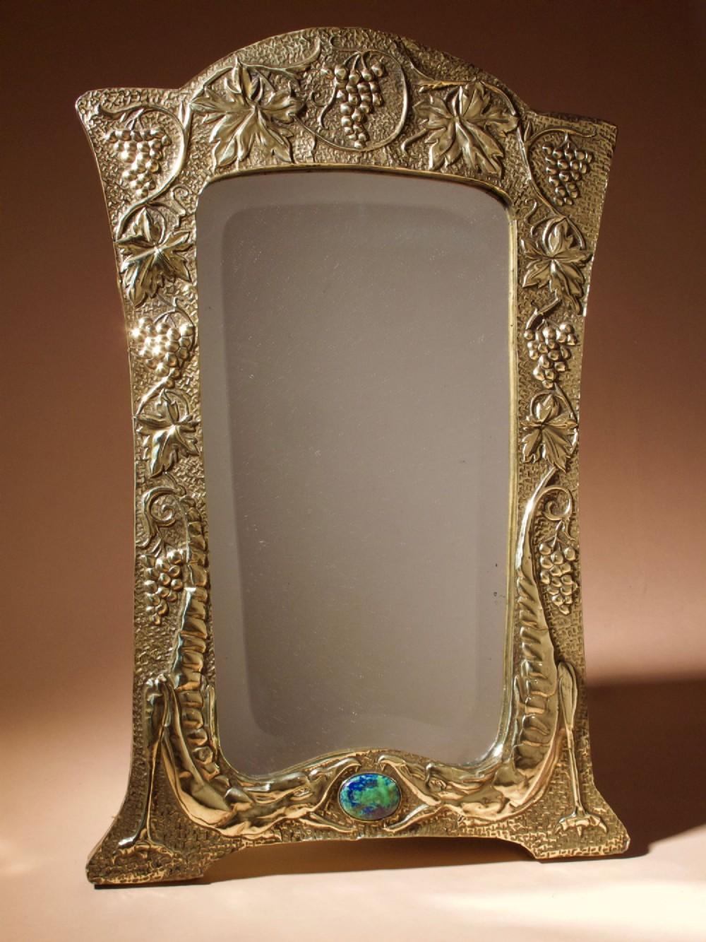 Vintage Embossed Brass Bell / Home Decor / Hanging - #