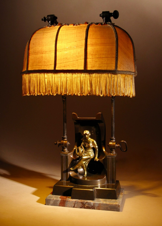 a very decorative and rare original art deco table lamp