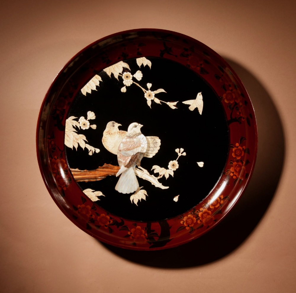 a very decorative japanese lacquered charger meiji period 18681912
