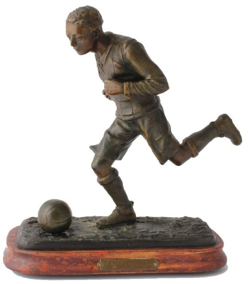 fratin football statue 19th century bronzed footballer soccer figure