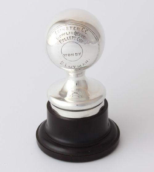 silver bowling trophy leinster cc bowling club pollett cup 1941 dublin