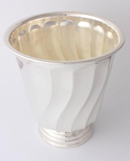 silver plate twist design champagne cooler