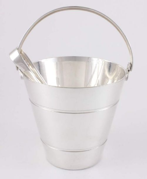 mappin webb silver plated ice bucket pail