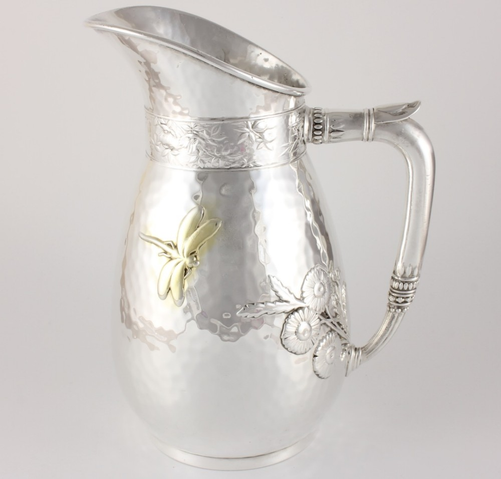 beautiful aesthetic american silver plated pitcher jug