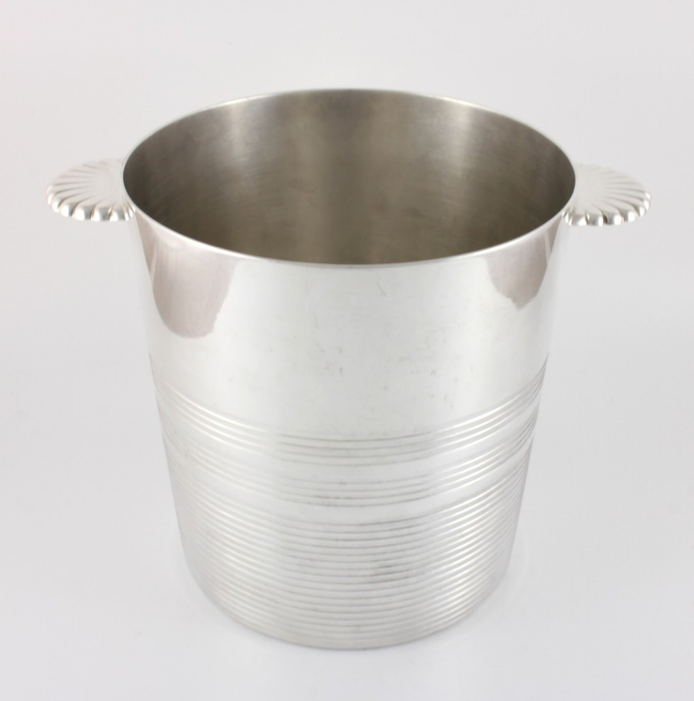 ercuis france silver plated wine cooler