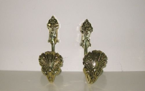 Pair Victorian Brass Curtain Tie Backs 174968