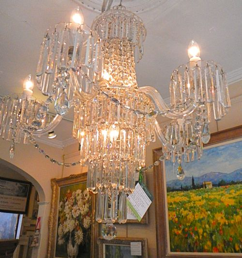Victorian crystal glass chandelier 211269 sellingantiques victorian crystal glass chandelier aloadofball Images