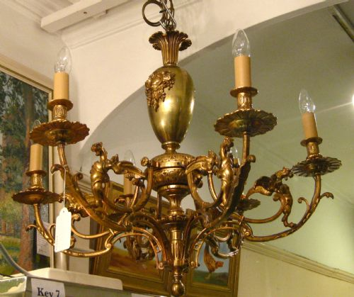 Victorian brass chandelier with griffins 203838 sellingantiques victorian brass chandelier with griffins aloadofball Images