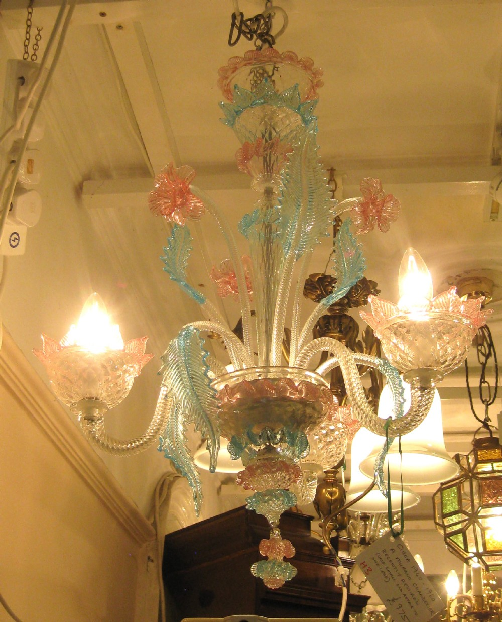 A murano glass chandelier 223643 sellingantiques a murano glass chandelier aloadofball Gallery