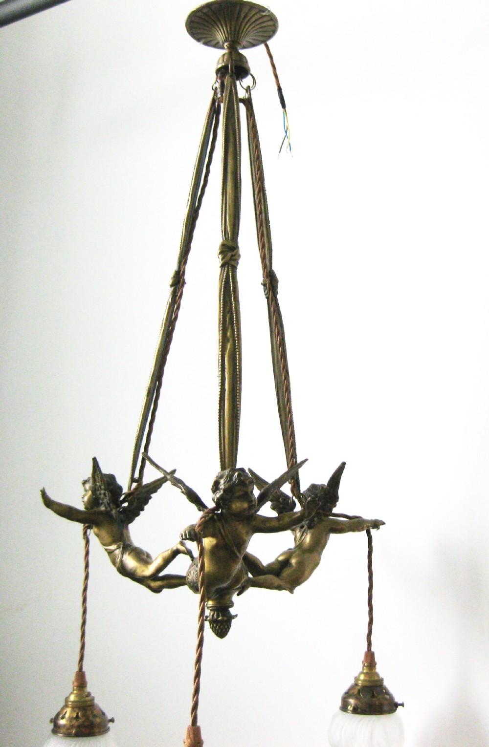 Original flying cherub chandelier 331980 sellingantiques original flying cherub chandelier arubaitofo Gallery