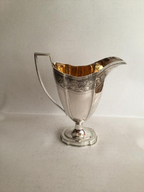 an elegant edwardian cream or milk jug