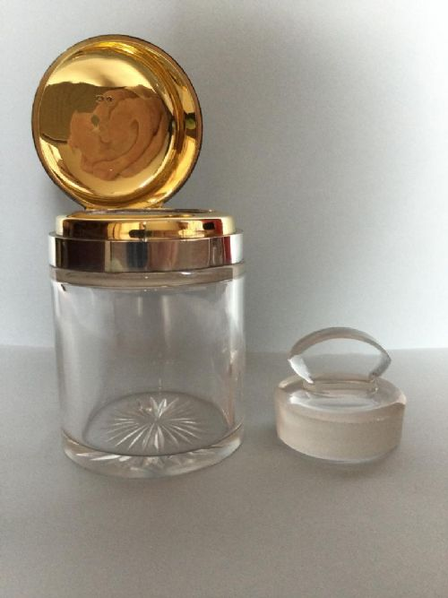 a superb victorian silver lady's vanity jarcologne bottletrinket pot