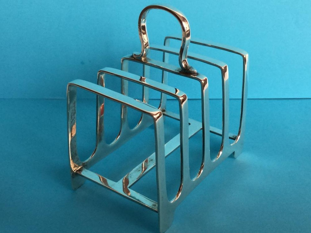 a silver toast rack 1930s