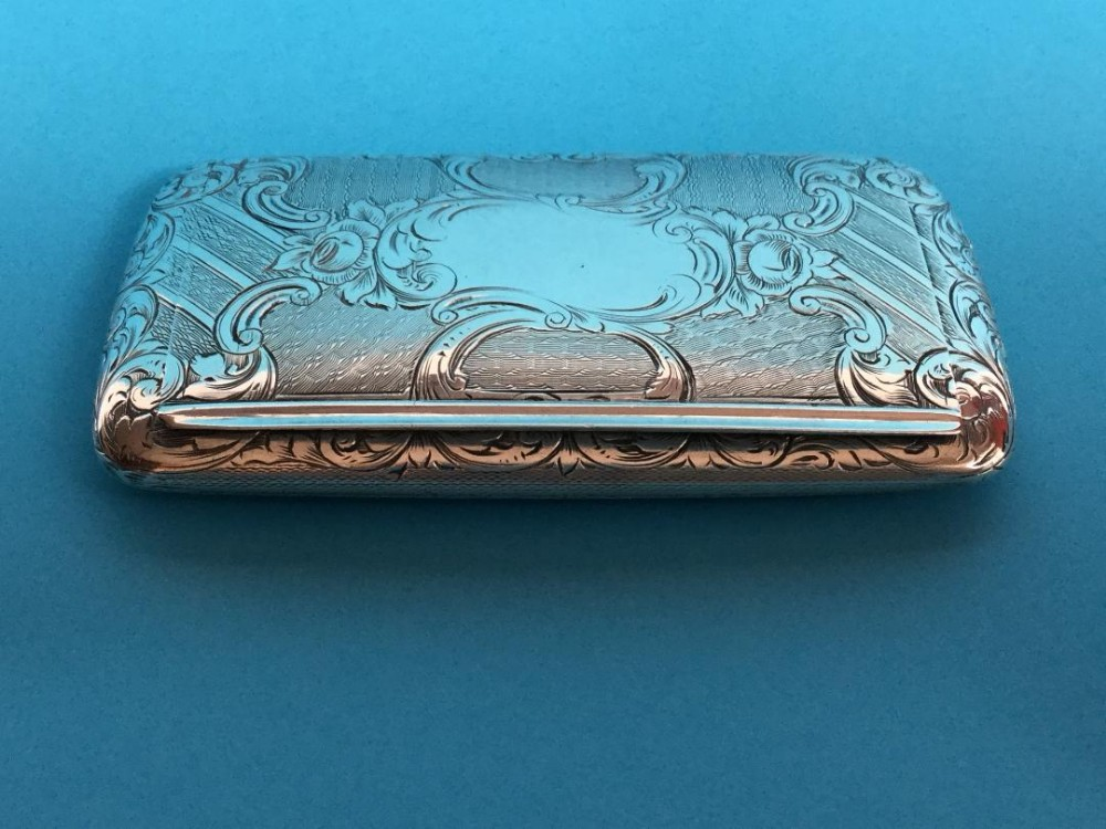 an exceptional silver snuff box with engineturned decoration 1853