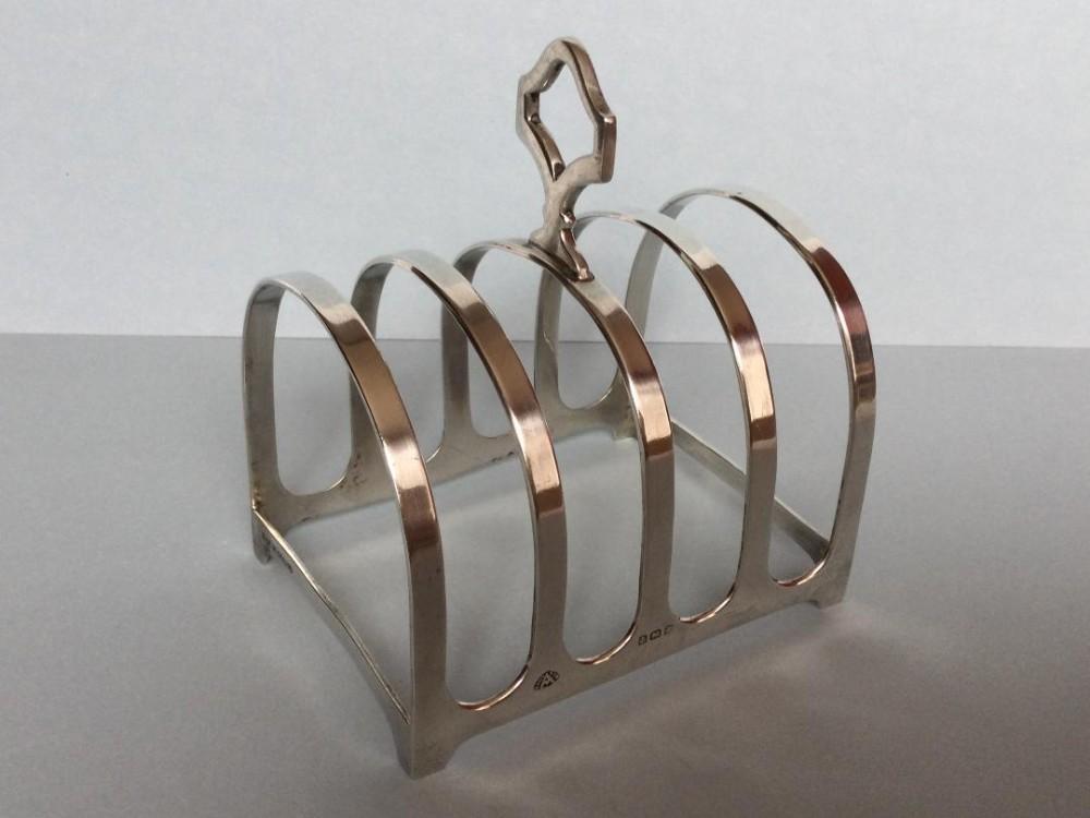 a good silver toast rack 1940s