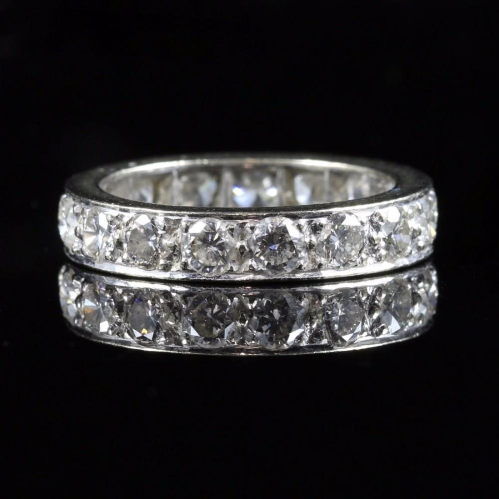Antique Diamond Eternity Ring 3ct Of Diamonds All Platinum 434033 Sellingantiques